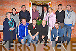 Enjoying the Cordal parish dance in Cordal Community Centre on Saturday night was front row l-r: George O'Connor, Micheál, Cahill, John Connell, Colm Jones. Back row: Muire Hannon, Martina O'Donoghue, Mike Flynn, Charlie Farrelly, Dom O'Ciardubhain, Siobhain Kearney, Sean Óg O'Ciardubhain and Colm Poolman..