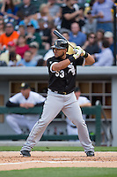 Melky Cabrera (53) of the Chicago White Sox at bat against the Charlotte Knights at BB&T Ballpark on April 3, 2015 in Charlotte, North Carolina.  The Knights defeated the White Sox 10-2.  (Brian Westerholt/Four Seam Images)