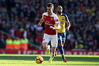 Nathan Redmond of Southampton and Aaron Ramsey of Arsenal during Arsenal vs Southampton, Premier League Football at the Emirates Stadium on 24th February 2019