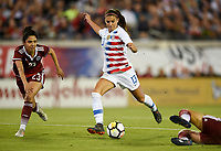 Jacksonville, FL - Thursday April 5, 2018: Alex Morgan, Christina Murillo during an International friendly match versus the women's National teams of the United States (USA) and Mexico (MEX) at EverBank Field.