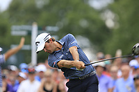 Kevin Kisner (USA) tees off the 1st tee to start Saturday's Round 3 of the 2017 PGA Championship held at Quail Hollow Golf Club, Charlotte, North Carolina, USA. 12th August 2017.<br /> Picture: Eoin Clarke | Golffile<br /> <br /> <br /> All photos usage must carry mandatory copyright credit (&copy; Golffile | Eoin Clarke)
