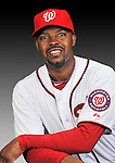 25 February 2011: Bo Porter poses for his Washington Nationals Photo Day portrait at Space Coast Stadium in Viera, Florida. Mandatory Credit: Ed Wolfstein Photo
