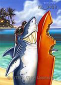 Interlitho, Lorenzo, CUTE ANIMALS, paintings, shark, sunglasses(KL3828,#AC#) illustrations, pinturas ,everyday