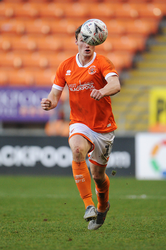 Blackpool's Matty Virtue<br /> <br /> Photographer Kevin Barnes/CameraSport<br /> <br /> Emirates FA Cup Second Round - Blackpool v Maidstone United - Sunday 1st December 2019 - Bloomfield Road - Blackpool<br />  <br /> World Copyright © 2019 CameraSport. All rights reserved. 43 Linden Ave. Countesthorpe. Leicester. England. LE8 5PG - Tel: +44 (0) 116 277 4147 - admin@camerasport.com - www.camerasport.com