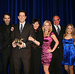 Executive producer of OLTL Frank Valentini receives the Linda Dano Heart Award at the HeartShare Human Services 2009 Spring Gala and Auction on March 24, 2009 at the New York Marriott Marquis, New York City, NY. N photo is Brandon Buddy, Farah Fath, Ron Carlivati (head writer), Frank, Linda Dano, Crystal Hunt, Brian Frons, Kristen Alderson (Photos by Sue Coflin/Max Photos)