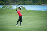 S Chikkarangappa (IND) during the 3rd round of the AfrAsia Bank Mauritius Open, Four Seasons Golf Club Mauritius at Anahita, Beau Champ, Mauritius. 01/12/2018<br /> Picture: Golffile | Mark Sampson<br /> <br /> <br /> All photo usage must carry mandatory copyright credit (&copy; Golffile | Mark Sampson)