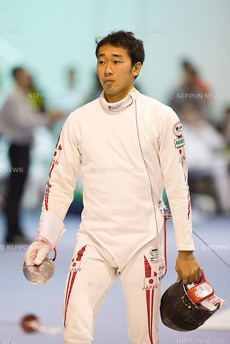 06, AUGUST, 2013, Keisuke Sakamoto (JPN), World Fencing Championships Budapest 2013, Men's Individual Epee Qualifications at Syma Hall in Budapest, Hungary. (Photo by Enrico Calderoni/AFLO SPORT) [0391]