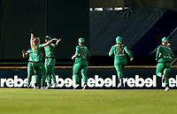 2nd November 2019; Western Australia Cricket Association Ground, Perth, Western Australia, Australia; Womens Big Bash League Cricket, Perth Scorchers versus Melbourne Stars; Stars players celebrate after Elyse Villani took a catch in the outfield - Editorial Use