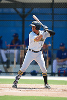 GCL Pirates left fielder Calvin Mitchell (52) at bat during a game against the GCL Blue Jays on July 20, 2017 at Bobby Mattick Training Center at Englebert Complex in Dunedin, Florida.  GCL Pirates defeated the GCL Blue Jays 11-6 in eleven innings.  (Mike Janes/Four Seam Images)