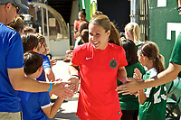 Portland, OR - Saturday September 02, 2017: Mallory Weber before a regular season National Women's Soccer League (NWSL) match between the Portland Thorns FC and the Washington Spirit at Providence Park.