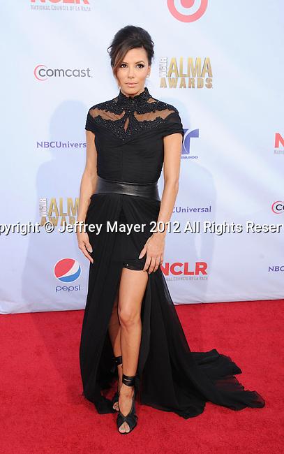 PASADENA, CA - SEPTEMBER 16: Eva Longoria arrives at the 2012 NCLR ALMA Awards at Pasadena Civic Auditorium on September 16, 2012 in Pasadena, California.
