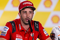 31st October 2019; Sepang Circuit, Sepang Malaysia; MotoGP Malaysia, Practice Day;  The number 4 Ducati Corse Team rider Andrea Dovizioso during the press conference - Editorial Use