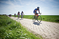 Bjorn Leukemans (BEL/Wanty-Groupe Gobert) in sector 26: Viesly &agrave; Qui&eacute;vy (1.8km)<br /> <br /> 113th Paris-Roubaix 2015
