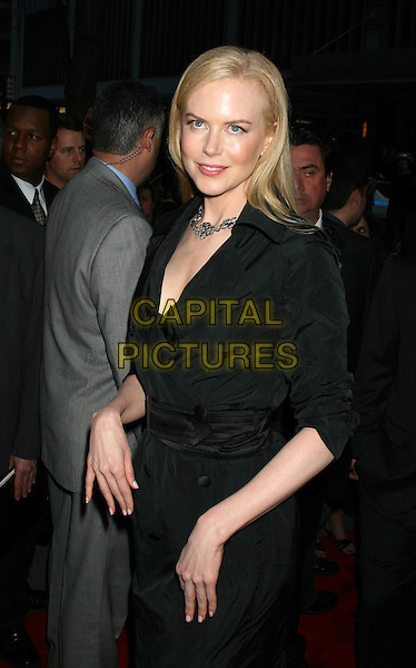 "NICOLE KIDMAN.4th Annual Tribeca Film Festival - ""The Interpreter"" Premiere - Inside Arrivals, Ziegfeld Theatre, New York City.April 19th, 2005 .half length black dress.www.capitalpictures.com.sales@capitalpictures.com.©Capital Pictures"