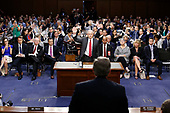 """United States Attorney General Jeff Sessions is sworn-in to give testimony before the US Senate Select Committee on Intelligence to  """"examine certain intelligence matters relating to the 2016 United States election"""" on Capitol Hill in Washington, DC on Tuesday, June 13, 2017.  In his prepared statement Attorney General Sessions said it was an """"appalling and detestable lie"""" to accuse him of colluding with the Russians.<br /> Credit: Alex Brandon / Pool via CNP"""