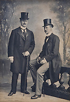 Fitzjohn, the 27th Knight of Glin, with his best man, Captain Charles Wyndham of the royal yacht Osborne taken at his wedding to Lady Rachel Wyndham Quin in 1897
