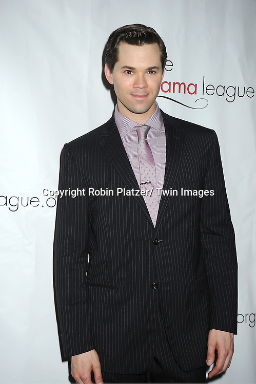 Andrew Rannells attending the Drama League Awards Ceremony and Luncheon at The Marriott Marquis Hotel in New York on May 20, 2011.