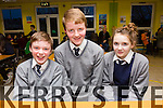 Pupils from Scoil Bhreac Chluain Annascaul .Pictured l-r Kevin Griffin, Seamus Knightly and Ellen Ashe at the Primary schools science quiz  ITT South Campus on Thursday