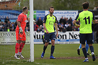 Adam Thomas (Stockport County) during the Vanarama National League North match between Nuneaton Town and Stockport County at the Liberty Way Stadium, Nuneaton, England on 27 April 2019. Photo by James  Gill.