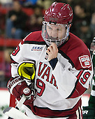 Jimmy Vesey (Harvard - 19) - The Harvard University Crimson tied the visiting Dartmouth College Big Green 3-3 in both team's first game of the season on Saturday, November 1, 2014, at Bright-Landry Hockey Center in Cambridge, Massachusets.