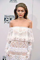 LOS ANGELES, CA - NOVEMBER 20: Gigi Hadid at the 44th Annual American Music Awards at the Microsoft Theatre in Los Angeles, California on November 20, 2016. Credit: Koi Sojer/Snap'N U Photos/MediaPunch