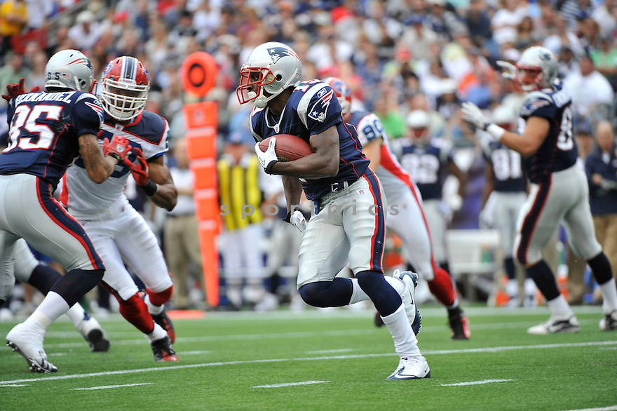 BRANDON TATE, of the New England Patriots,  in action during the Patriots  game against the Buffalo Bills on September 26, 2010 at Gilette Stadium in Foxboro, Massachusetts..Patriots defeated the Bills 38-30