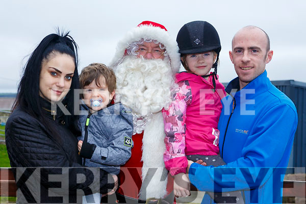 Ho Ho Horse at the Family Fun day at the Tralee Equestrian Centre on Sunday last,l-r, Santa Clause, Mason Burke on horseback, Rhianna McElligott, Jade & Dimi Burke.