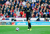 9th September 2017, bet365 Stadium, Stoke-on-Trent, England; EPL Premier League football, Stoke City versus Manchester United; Ander Herrera of Manchester United is wearing the clubs away kit