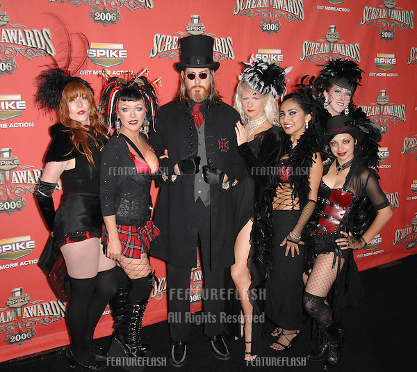 Cast of gothic rock opera TAKIING THE JESUS PILL at the Spike TV Scream Awards 2006 at the Pantages Theatre, Hollywood..October 7, 2006  Los Angeles, CA.Picture: Paul Smith / Featureflash