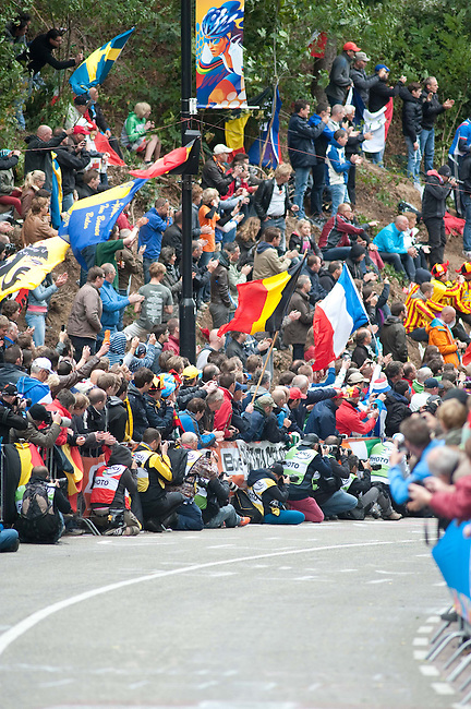 At the Cauberg during the Men's Elite Road Race on day eight of the UCI Road World Championships on September 23, 2012 in Valkenburg, Netherlands.