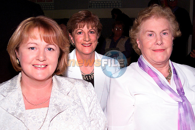 Angela Finnegan, Theresa McEneaney and Nancy Lynch at the Irish Wheelchair Association fundraising night in the Ardee Parish Centre..Picture: Paul Mohan/Newsfile