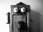 Americana.<br /> <br /> Antique telephone, Oakwood, Ohio.