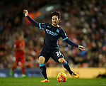 David Silva of Manchester City in action - English Premier League - Liverpool vs Manchester City - Anfield Stadium - Liverpool - England - 3rd March 2016 - Picture Simon Bellis/Sportimage
