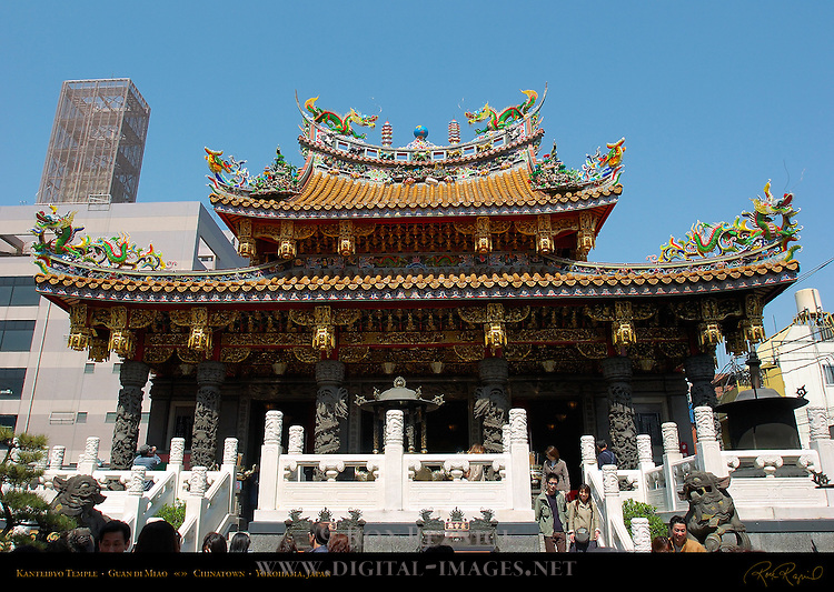 Kanteibyo Temple, Guan di Miao, dedicated to Guan Yu (Guan Di), Chinatown, Yokohama, Japan