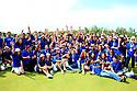 Moritz Lampert (GER) and the volunteers, European Challenge Tour, Azerbaijan Golf Challenge Open 2014, Azerbaijan National Golf Club, Quba, Azerbaijan. (Picture Credit / Phil Inglis)