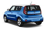 Car pictures of rear three quarter view of 2018 KIA Soul EV Base 5 Door Hatchback angular rear