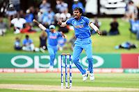 India's Ishan Porel celebrates the wicket of Australia's Jack Edwards during the ICC U-19 Cricket World Cup 2018 Finals between India v Australia, Bay Oval, Tauranga, Saturday 03rd February 2018. Copyright Photo: Raghavan Venugopal / © www.Photosport.nz 2018 © SWpix.com (t/a Photography Hub Ltd)