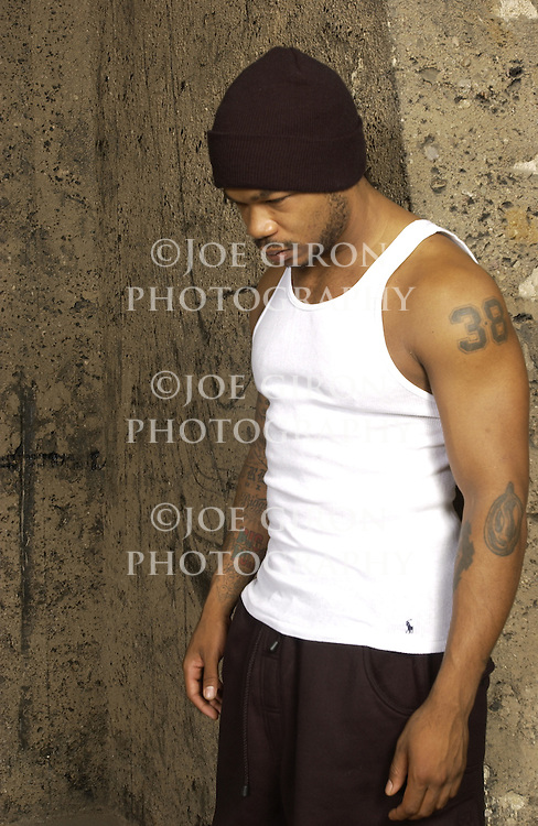 Rapper Xzibit poses for a photo shoot.