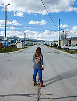 Susi (last name not given for protection of subject) near her home in the Lake Fork community in Leadville, Colorado, Wednesday, May 24, 2017. Susi has been living without documentation in Leadville since age 4 but is originally from Zacatecas, Mexico.<br /> <br /> Photo by Matt Nager