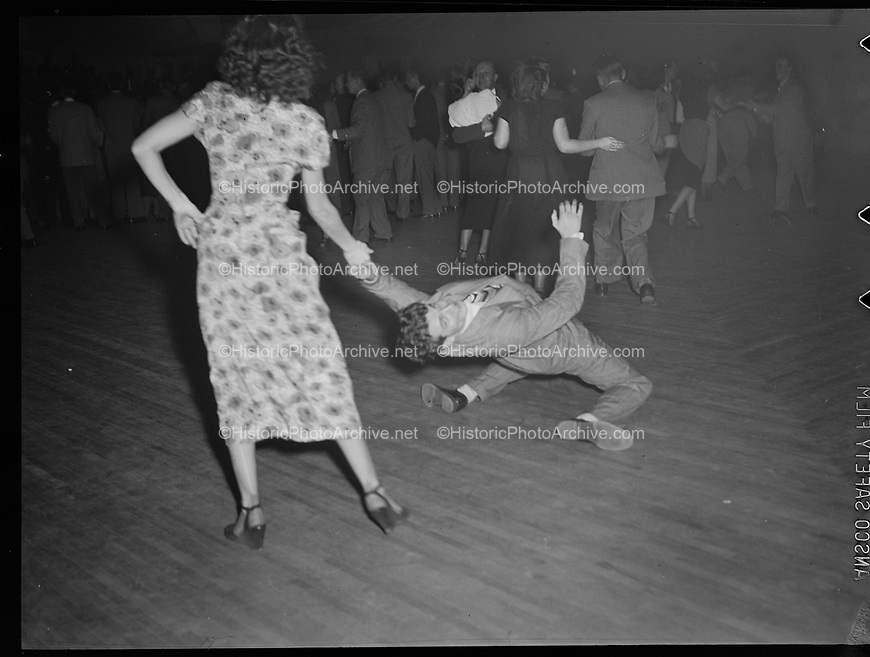 9969-7510. Audience members dancing at McElroy's Ballroom, February 21, 1949.