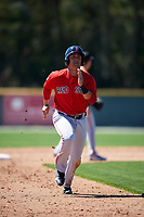 Boston Red Sox Michael Chavis (3) running the bases during a minor league Spring Training game against the Baltimore Orioles on March 16, 2017 at the Buck O'Neil Baseball Complex in Sarasota, Florida. (Mike Janes/Four Seam Images)