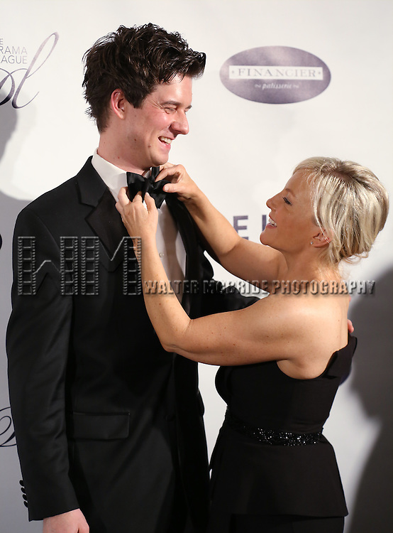 Christian Hebel and Rachel Harris attends the Drama League's 30th Annual 'Musical Celebration of Broadway' honoring Neil Patrick Harris at the Pierre Hotel on February 3, 2014 in New York City.