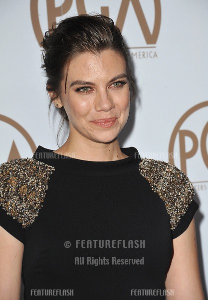 Lauren Cohan at the 26th Annual Producers Guild Awards at the Hyatt Regency Century Plaza Hotel.<br /> January 24, 2015  Los Angeles, CA<br /> Picture: Paul Smith / Featureflash
