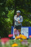 Christina Kim (USA) watches her tee shot on 13 during round 2 of the 2018 KPMG Women's PGA Championship, Kemper Lakes Golf Club, at Kildeer, Illinois, USA. 6/29/2018.<br /> Picture: Golffile | Ken Murray<br /> <br /> All photo usage must carry mandatory copyright credit (&copy; Golffile | Ken Murray)