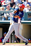 5 March 2007: Washington Nationals infielder D'Angelo Jimenez in action against the Atlanta Braves at Disney's Wide World of Sports in Orlando, Florida. 2007 marks the 10th year that the Braves have been training at the Disney facility.<br /> <br /> Mandatory Photo Credit: Ed Wolfstein Photo
