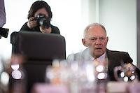 Bundesfinanzminister Wolfgang Schaeuble (CDU) nimmt am Mittwoch (21.09.16) in Berlin an der Sitzung des Bundeskabinetts teil.<br /> Foto: Axel Schmidt/CommonLens
