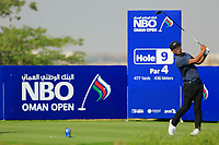 Rak Hyun Cho (KOR) during the first round of the NBO Open played at Al Mouj Golf, Muscat, Sultanate of Oman. <br /> 15/02/2018.<br /> Picture: Golffile | Phil Inglis<br /> <br /> <br /> All photo usage must carry mandatory copyright credit (&copy; Golffile | Phil Inglis)