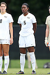 28 September 2014: Wake Forest's Jenai Davidson. The Wake Forest University Demon Deacons hosted the Notre Dame University Fighting Irish at W. Dennie Spry Soccer Stadium in Winston-Salem, North Carolina in a 2014 NCAA Division I Women's Soccer match.