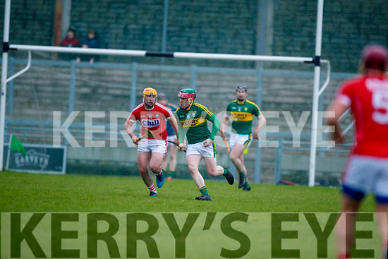 Sean Weir Kerry  in action against Declan Dalton Cork in the Co-op Superstores Munster Senior Hurling League on Sunday 14th January in Austin Stack Park, Tralee.