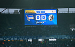 10.03.2018, OLympiastadion, Berlin, GER, 1.FBL, Hertha BSC VS. FC Freiburg, im Bild <br /> Anzeigetafel, Endergebnis ,  0: 0<br /> <br /> <br />       <br /> Foto &copy; nordphoto / Engler
